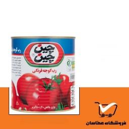کنسرو رب گوجه فرنگی 800 گرم چین چین