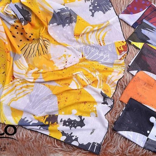 روسری نخی کریستال دست دوز  سایز قواره بزرگ 140  6 رنگ جذاب- باسلام