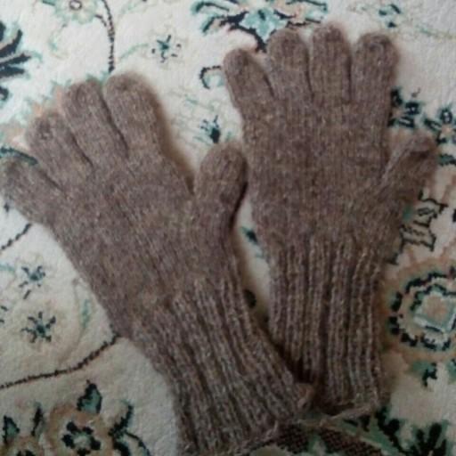 دستکش پشمی دستباف - باسلام