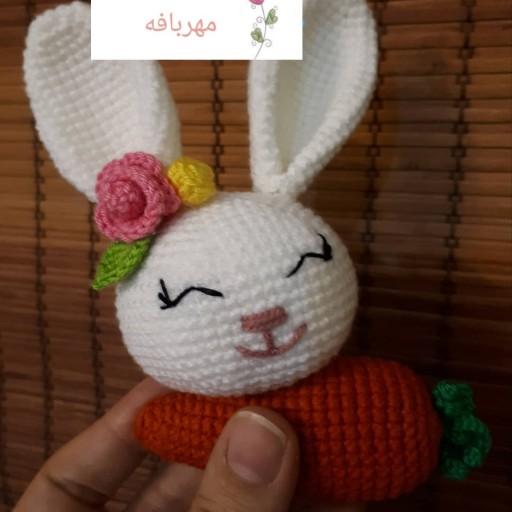 عروسک آویز کیف دستباف خرگوش و هویج