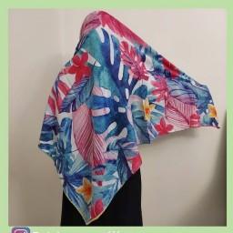 روسری فانتزی طرح هاوایی جنس روسری نخی کریستال فوووووق العاده سبک و باکیفیت  برند معتبر بارسو
