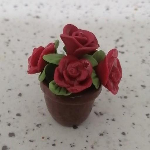 مگنت مینیاتوری گلدان گل رز- باسلام