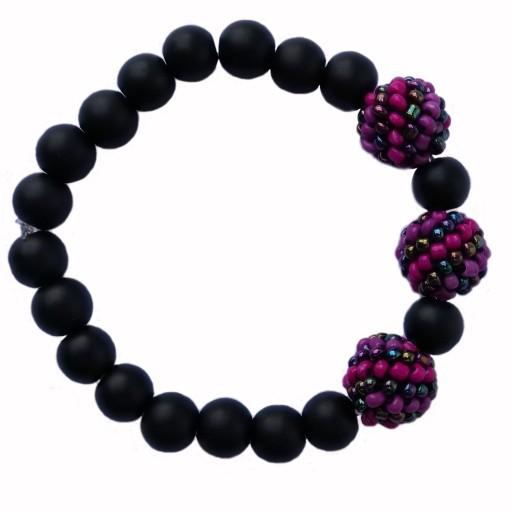 دستبند زنانه منجوق توپی- باسلام