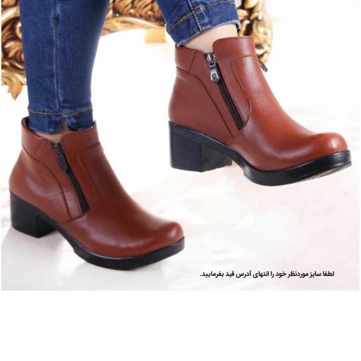 کفش زنانه پاشنه دار مدل دوزیپ