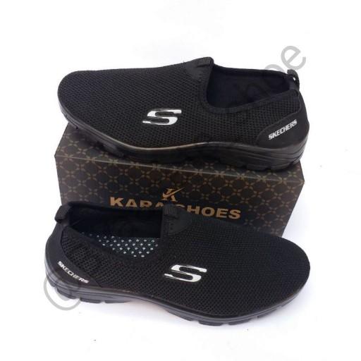 کفش اسپرت مدل اسکیچرز مشکی - باسلام