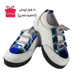 کفش ونس هولوگرامی بچگانه سفید                                                        (کد محصول 836 - سایز 25 تا 30)