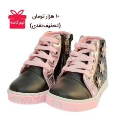 کفش نیم بوت  دخترانه زیپ بغل                                                       (کد محصول 837 - سایز 25 تا 30)