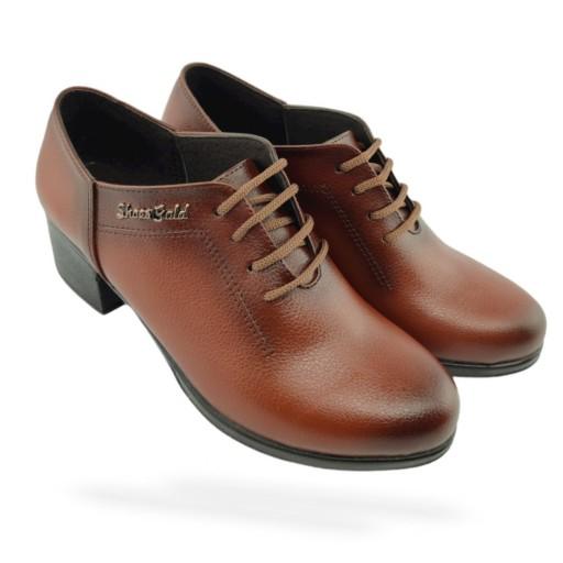 کفش زنانه فوق راحت مجلسی مدل گلپا رنگ قهوه ای      (سایز 37 تا 40)- باسلام