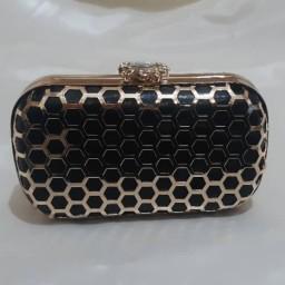 کیف دهانه فلزی طلایی