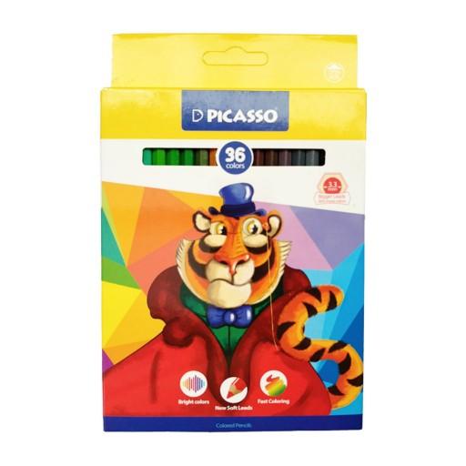 مداد رنگی 36 رنگ پیکاسو (PICASSO) جعبه مقوایی ((طرح جدید))- باسلام