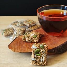 کنجد عسلی دو آتیشه مغزدار سوغات دزفول(450 گرم)