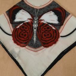 روسری نخی روسری طرح پروانه (کرم) برند آناهیتا