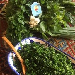سبزی آش تازه خرد شده 900 گرمی فروشگاه اینترنتی رونا