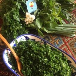 سبزی کوکو  تازه خرد شده 900 گرمی فروشگاه اینترنتی رونا