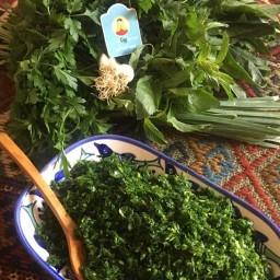 سبزی پلویی تازه خرد شده 900 گرمی فروشگاه اینترنتی رونا
