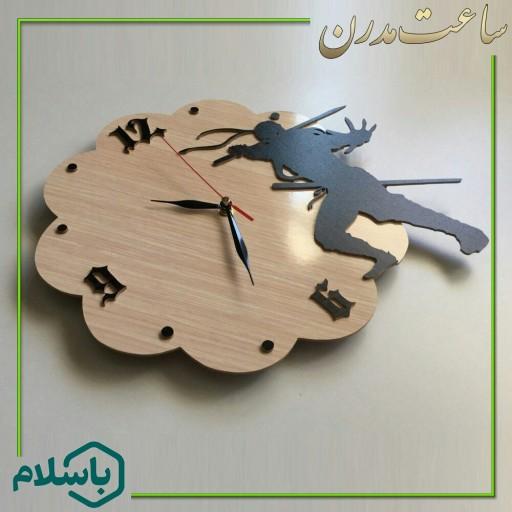 ساعت دیواری دستساز طرح نینجا- باسلام