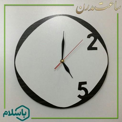 ساعت دیواری چوبی زیبا و لوکس- باسلام
