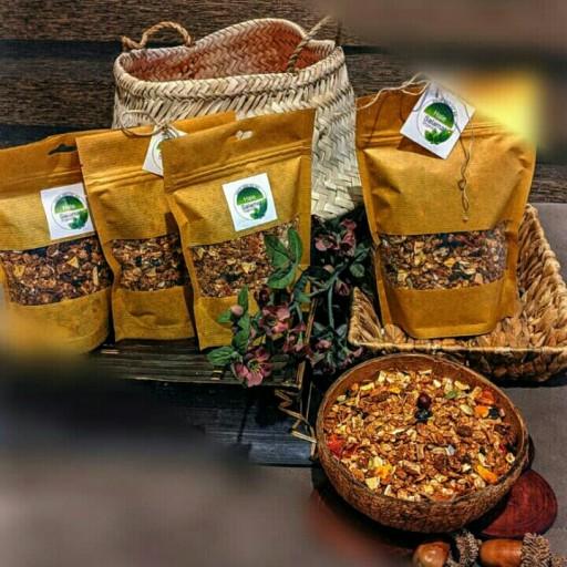 گرانولا رژیمی بدون شکر (محصولی مناسب صبحانه )بسته های 200 گرمی- باسلام