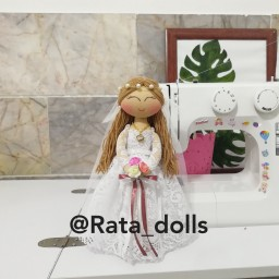 عروسک روسی تیلدا عروس 25سانت کد0021