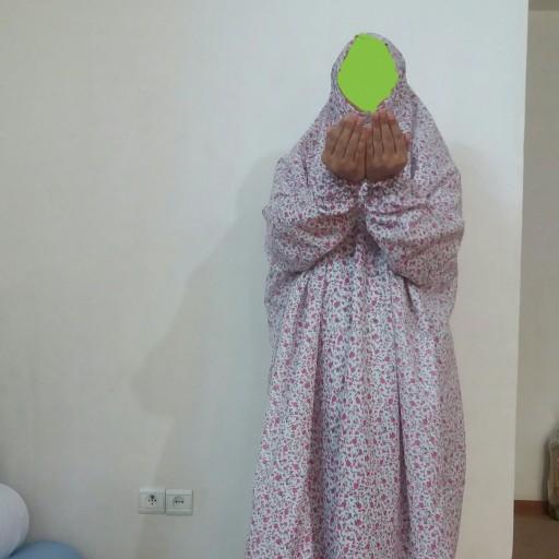 چادر نماز(مطهره) جلو بسته استین دار فلامنت- باسلام