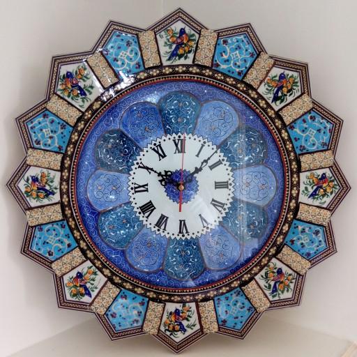 ساعت خاتم مینیاتور خورشیدی با صفحه ی مینا سایز بزرگ 47 سانتی متری(قالپاق دار)- باسلام