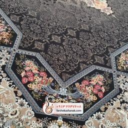 فرش 1200شانه مسطح طرح هالیدی سرمه ای 6متری تراکم 3600 ، فرش ماشینی  فرش کاشان  فرش راوند  خرید فرش  خرید لوازم خانگی فرش