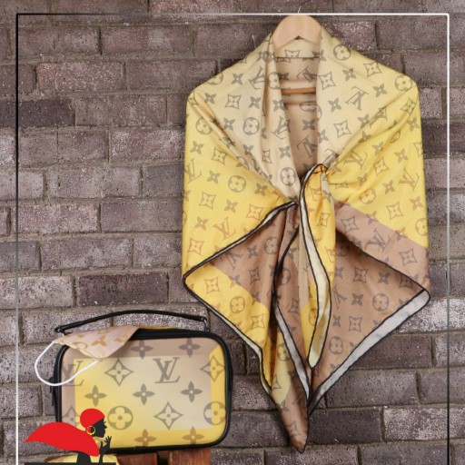 ست کیف و روسری طرح LV لویدور به همراه ماسک طبی- باسلام