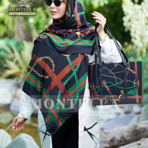 ست کیف و روسری طرح برند montella- باسلام
