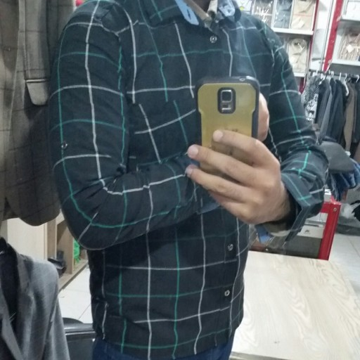 پیراهن مردانه چهارخانه نامجو- باسلام