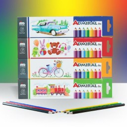 مداد 6 رنگی آدمیرال مدل MDF
