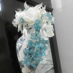 گلدان آویز اشک گل کریستال
