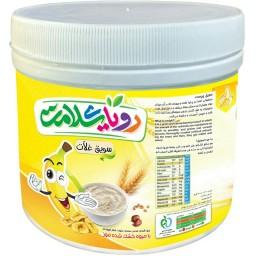 سویق 5 غله کودک با میوه موز رویای سلامت ( پت 400 گرمی)