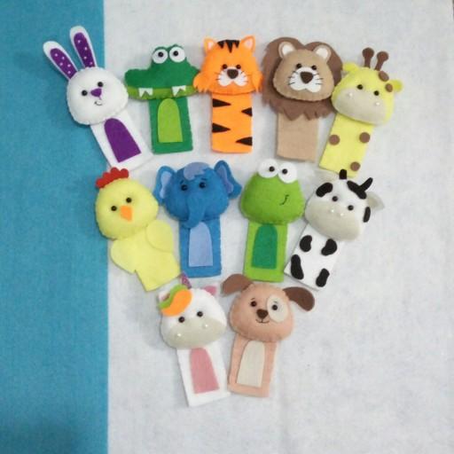 عروسک انگشتی حیوانات(10عددی)- باسلام