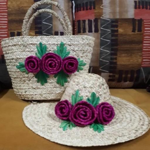 کلاه و زنبیل حصیری- باسلام