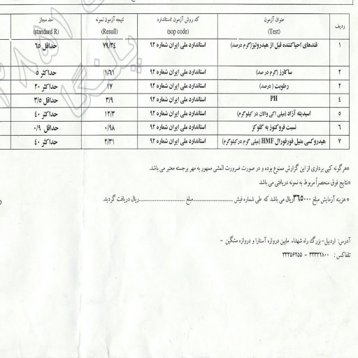 عسل رس بسته خام ارگانیک چند گیاه ساکارز 1.61 (250گرم)- باسلام
