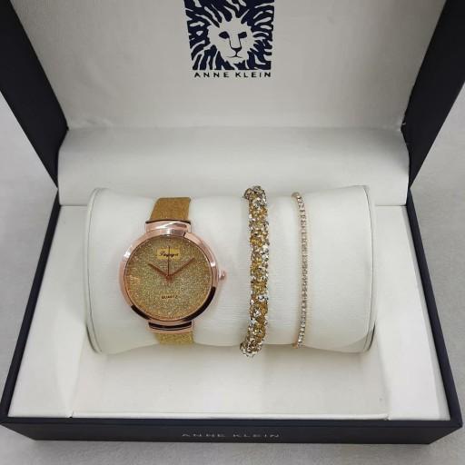 ست ساعت دستبند شاین طلایی- باسلام