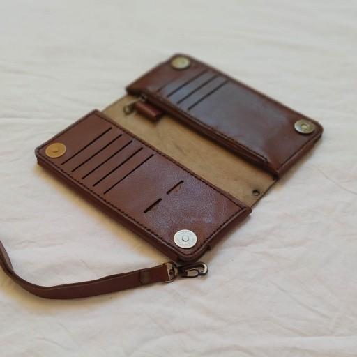 کیف چرم طبیعی دست دوز  کلاسیک دو طبله(ارسال رایگان)- باسلام