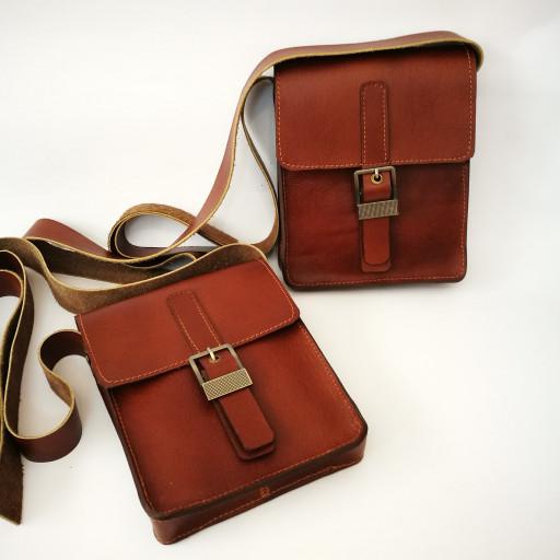 کیف پستچی چرم طبیعی دستدوز- باسلام