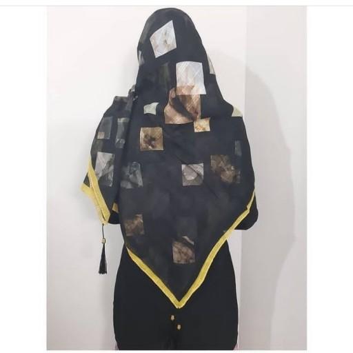 روسری نخی طیفی منگوله دار دارای رنگبندی- باسلام