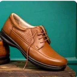 کفش چرم مردانه طبی مدل گریدر بندی