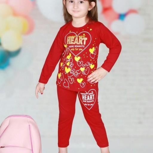 ست بلوز شلوار دخترونه مدل قلب ارسال رایگان- باسلام