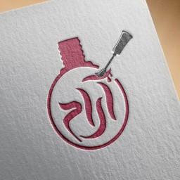 طراحی حرفه ای لوگو ناخنکار آرام