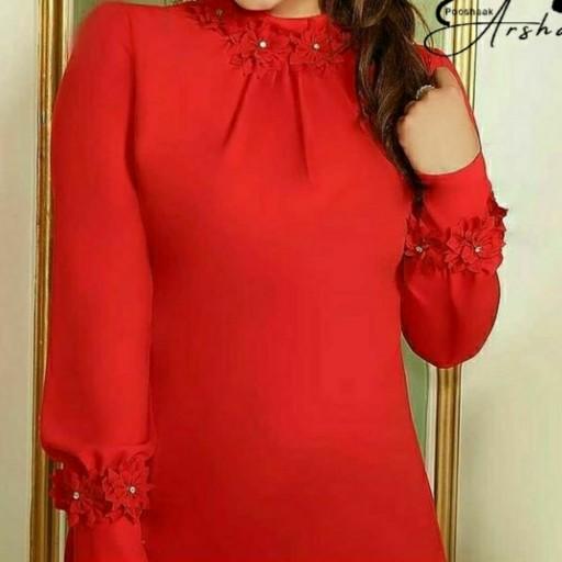 شومیز مجلسی رنگ نارنجی  پوشاک آرشام 1- باسلام