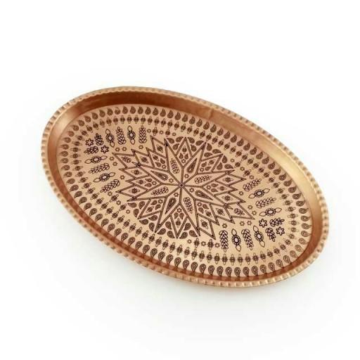 سینی مسی بیضی ترنج نانو سایز6 - باسلام