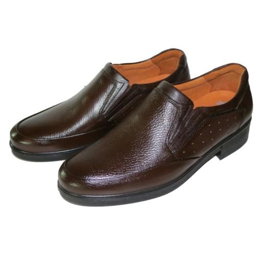 کفش تمام چرم اصل گاوی مجلسی و رسمی طبی مردانه مدل کامرا ساعتی  ارسال رایگان- باسلام