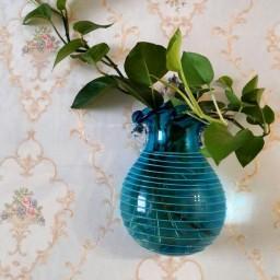گلدان دیواری دستساز شیشه فوتی شیشه گری صنایع دستی قزوین