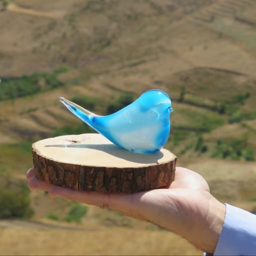 مرغ آمین شیشه دستساز گالری صنایع دستی فردوس قزوین- باسلام