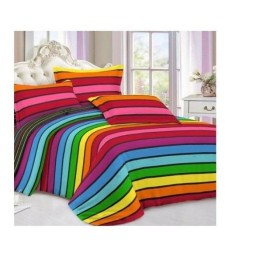 سرویس خواب مدل رنگین کمان 3 تکه( شامل یک روتختی و دو عدد روبالشی )