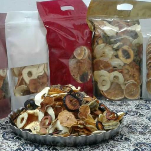 مخلوط میوه خشک (نیم کیلوگرمی) هشت میوه- باسلام