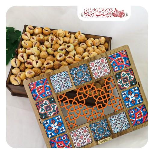 جعبه چوبی انجیر مناسب برای هدیه دادن- باسلام